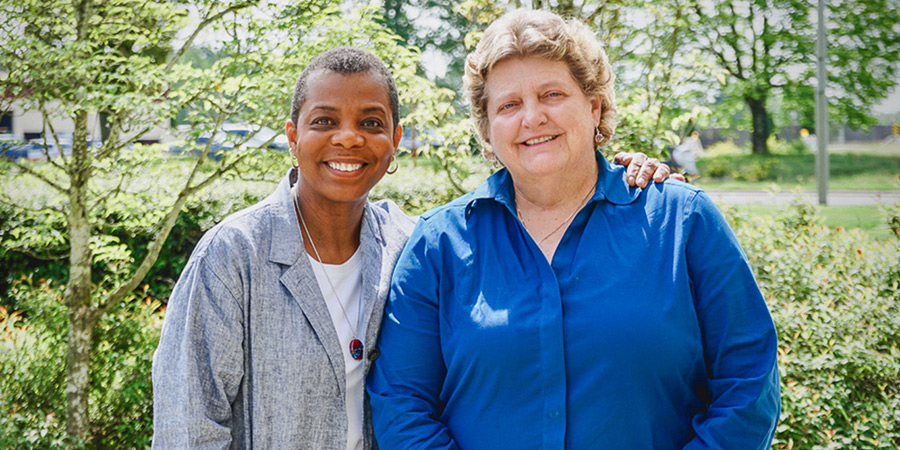 Sherry Williams from Swedish, left, and Associate Dean for Nursing Vicky Hertig