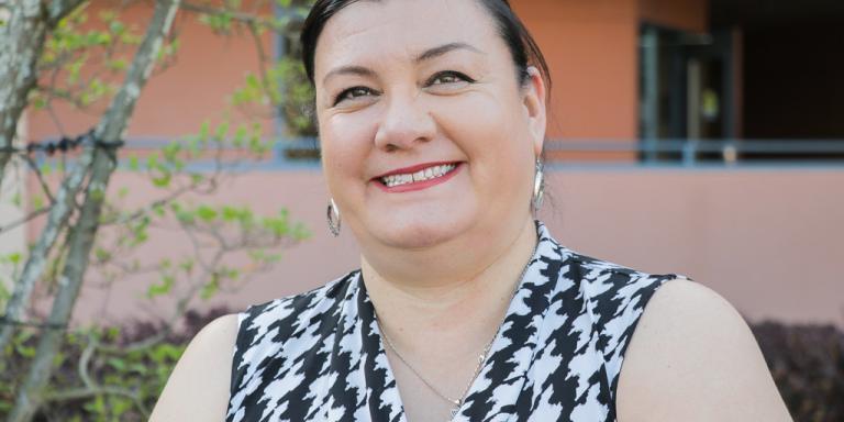 Alma Meza smiling